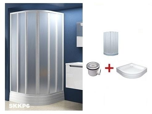 Ravak Напівкругла душова кабіна SKKP6 90 з піддоном та сифоном